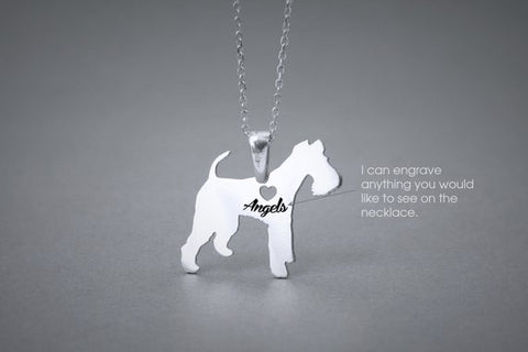 WIRE FOX Terrier NAME Necklace - Wire Fox Terrier Name Jewelry - Personalised Necklace - Dog breed Necklace- Dog Necklace - My Boho Jewelry