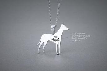 MEXICAN HAIRLESS Dog NAME Necklace - Xoloitzcuintli Name Jewelry - Personalised Necklace - Dog breed Necklace- Dog Necklace - My Boho Jewelry