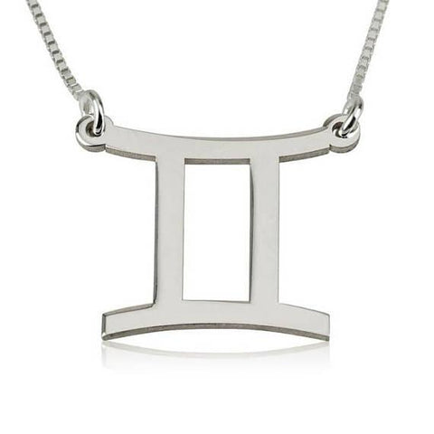 the heirloom this gemini an of symbol signs tone silver zodiac pendant is image necklace pave crystal symbols and clear