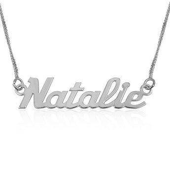 Name Necklace, Personalized Jewelry, Custom Silver Pendants, 925 Sterling Silver  Name Chains, Bridesmaid Neckalce, English Bright day Style - My Boho Jewelry