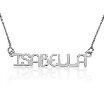 Name Necklace, Custom Name Pendant, 925 Sterling Silver Necklace