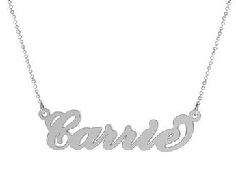 Silver name necklace choose any name customized pendant made with 925 Sterling silver - My Boho Jewelry