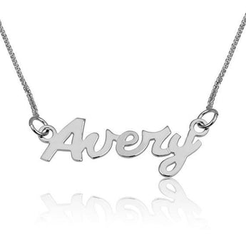 Name Necklace, Sterling 925 Silver Pendant Necklace - My Boho Jewelry