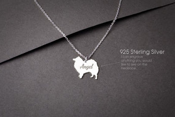 JAPANESE SPITZ Personalised Tiny Silver Necklace - Japanese Spitz Necklace - Gold Dog - 925 Sterling Silver, Gold Plated or Rose Plated - My Boho Jewelry