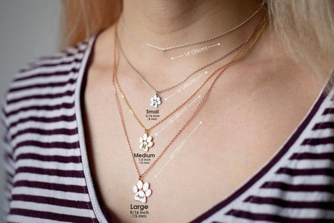 dog paw print necklaces