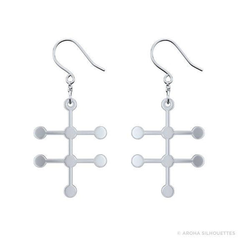 Alcohol Molecule Earrings - 925 Sterling Silver - My Boho Jewelry