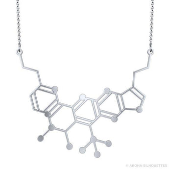 Neurotransmitter Molecule Necklace - 925 Sterling Silver - My Boho Jewelry