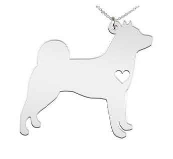 Malamute  Personalized Necklace Custom Made 925 Sterling Silver iHeart Dog - with Engraving Option Malamute - - My Boho Jewelry