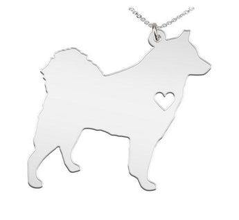 Spitz Necklace Custom Made 925 Sterling Silver iHeart Dog - Personalized Necklace.Engraving - My Boho Jewelry