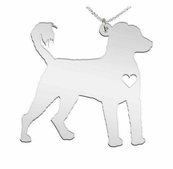 Portuguese Water Dog Necklace Custom Made 925 Sterling Silver  iHeart Dog - Personalized Necklace.Engraving - My Boho Jewelry