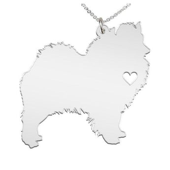 Siberian Husky Necklace Custom Made 925 Sterling Silver  iHeart Dog - Personalized Necklace.Engraving - My Boho Jewelry