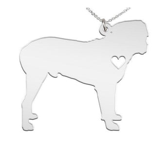 Rottweiler Necklace Custom Made 925 Sterling Silver  iHeart Dog - Personalized Necklace.Engraving - My Boho Jewelry