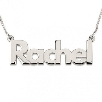 Bold Print Name Necklace with chain - My Boho Jewelry