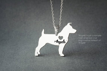 JACK RUSSELL NAME Necklace - Jack Russell Terrier Name Necklace - Personalised Necklace - Dog breed Necklace - Dog Necklace - My Boho Jewelry