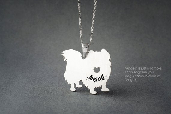 PEKINGESE LONGHAIRED NAME Necklace - Pekingese Longhaired Name Necklace - Personalised Necklace - Dog breed Necklace - Dog Necklace - My Boho Jewelry