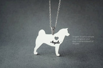 Akita NAME Necklace  Akita Inu  Name Necklace  Personalised Necklace  Custom Necklace  Dog Gift  Dog Necklace  Hachiko Necklace - My Boho Jewelry