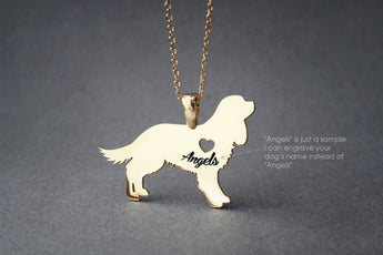 Cavalier KING CHARLES Spaniel NAME Necklace -King Charles Name Necklace - Personalised Necklace - Dog breed Necklace - Dog Necklace - My Boho Jewelry