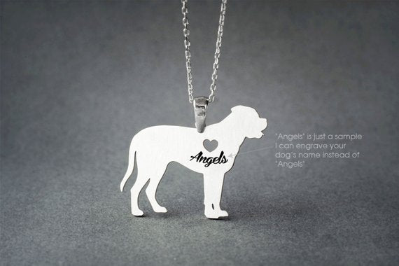 MASTIFF NAME Necklace - English Mastiff Name Necklace - Personalised Necklace - Dog breed Necklace - Dog Necklace - My Boho Jewelry