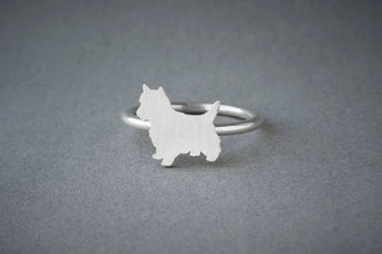 YORKSHIRE TERRIER RING / Yorkie Ring / Silver Dog Ring / Dog Breed Ring / Silver, Gold Plated or Rose Plated. - My Boho Jewelry
