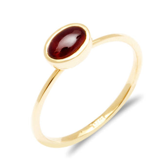 Red Garnet Engagement Ring - in a elegant design. - My Boho Jewelry