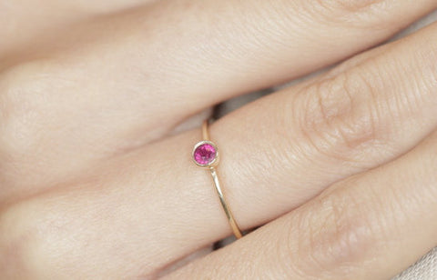 Pink ruby engagement ring pink diamonds engagement ring pink diamond ring - My Boho Jewelry