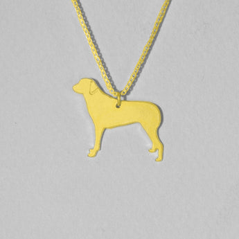 Gold Plated Dog Necklace ,Engraved Pendant,Gold Plated Jewelry , Personalized Pet Jewelry, Animal Charm - My Boho Jewelry
