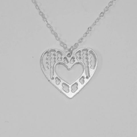 heart necklace 925 sterling silver -  love necklace silver heart sterling heart dainty heart silver heart pendant silver heart charm - My Boho Jewelry