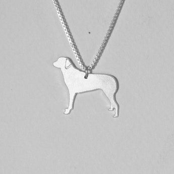 Dog Necklace 925 Sterling Silver  ,Engraved Pendant,Silver Jewelry , Personalized Pet Jewelry, Animal Charm, Gold Plated also available - My Boho Jewelry