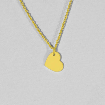 Tiny heart necklace gold plated heart necklace delicate heart necklace for women heart shaped necklace - My Boho Jewelry