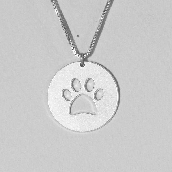 pet necklace - Silver pawprint Necklace, animal necklace, puppy necklace,dog lover gift, dog paw necklace, personalized dog, dog mom, paw - My Boho Jewelry