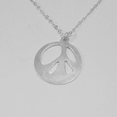 Love Peace pacifist Necklace 925 Sterling Silver - peace necklace peace and love peace jewelry hippie necklace peace pendant peace love - My Boho Jewelry
