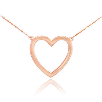 18K Polished Rose Gold Open Necklace ,name necklace, initial necklace, rose gold, gold - My Boho Jewelry