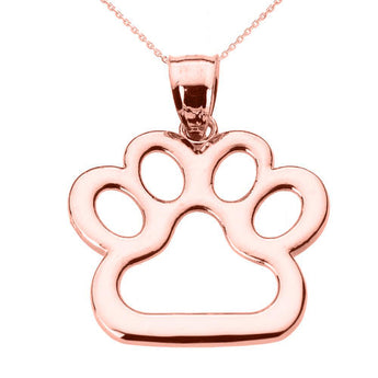 Rose Gold Dog Paw Print Necklace ,artisan necklace, Rose, cluster necklace, green - My Boho Jewelry