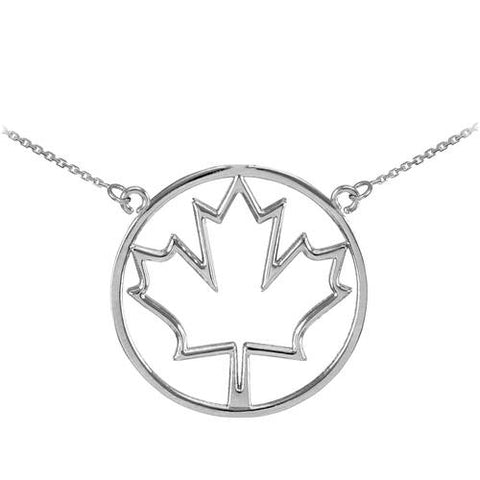 925 Sterling Silver Open Design Maple Leaf Necklace,necklace findings, gift for friend, work gifts, deer - My Boho Jewelry
