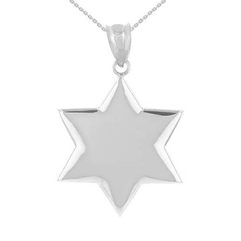 Star of David Necklace Sterling Silver Magen David Necklace David Star Necklace Jewish Star Necklace Silver Star - My Boho Jewelry