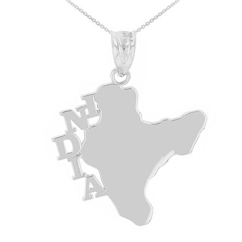 Sterling Silver India Country Pendant Necklace  ,love necklace, one pearl necklace, kids gift, gift father of - My Boho Jewelry