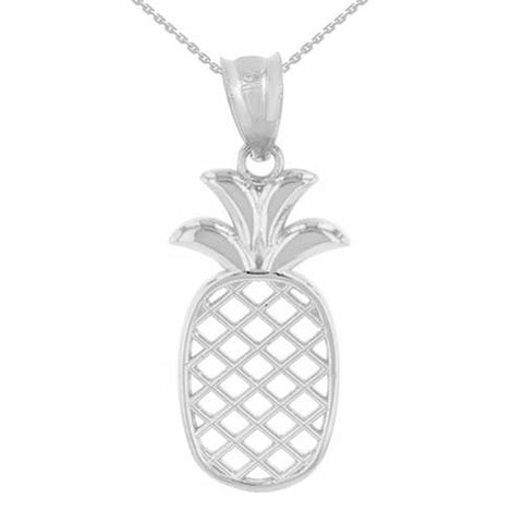 Sterling Silver Pineapple Necklace Pineapple Pendant Pineapple Charm - My Boho Jewelry