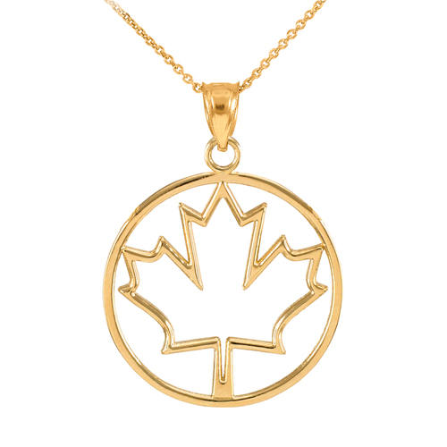 Gold Open Design Maple Leaf Pendant Necklace, half moon necklace, silver necklace 925, christmas sign, monogram christmas - My Boho Jewelry