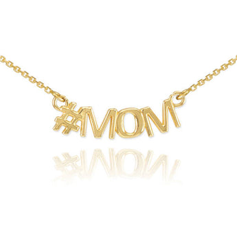 14k Gold MOM Necklace Mother Necklace Mom Name Necklace Mother Name Necklace - My Boho Jewelry