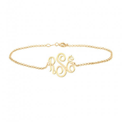 Monogram Anklet Name Anklet Personalized Anklet Body Jewelry Initial Anklet - My Boho Jewelry