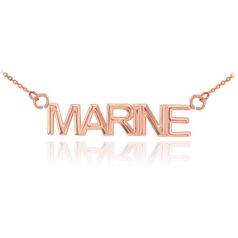 18K Rose Gold MARINE Necklace  ,gold bar necklace, Rose gold, wedding necklace, - My Boho Jewelry