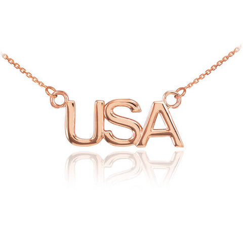 18K Rose Gold USA Necklace  ,wedding necklace, gold plated necklace, Rose stone, purple - My Boho Jewelry