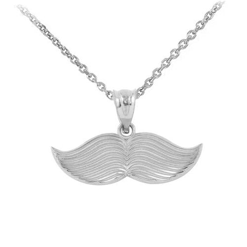 Sterling Silver Hipster Mustache Pendant Necklace  ,gift for him, gift for husband, mother daughter gift, father of groom - My Boho Jewelry