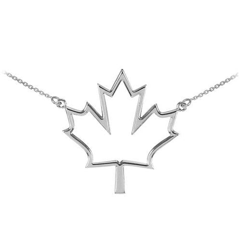 925 Sterling Silver Open Design Maple Leaf Charm,sterling silver, necklace sterling, necklace findings, sister gift - My Boho Jewelry
