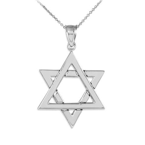 925 Sterling Silver Polished Star of David Pendant,love necklace, necklace findings, boyfriend gift, coworker - My Boho Jewelry