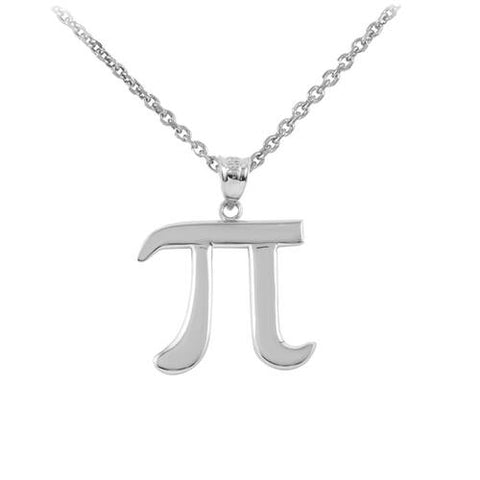 Sterling Silver Pi Symbol Necklace Pi Necklace Pi Pendant Mathematic Necklace Math Necklace - My Boho Jewelry