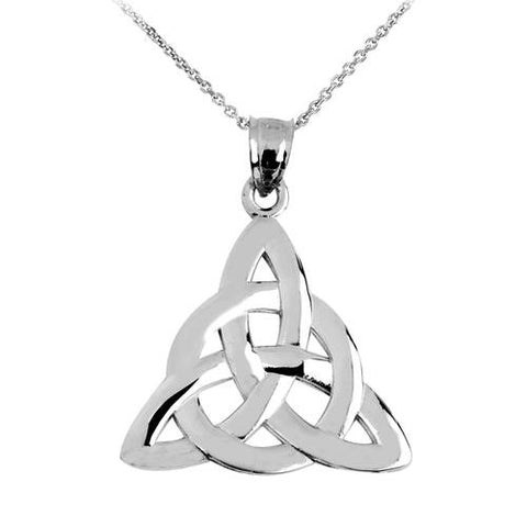 925 Sterling Silver Trinity Knot Pendant Necklace ,personalized gifts, christmas kitchen, fun gift, mothers day - My Boho Jewelry
