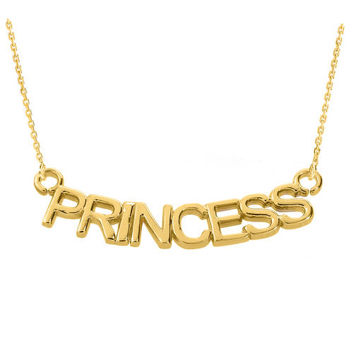 "18K Gold Plated  ""PRINCESS"" Pendant Necklace, statement necklace, casual necklaces, black onyx necklace, gold choker set - My Boho Jewelry"