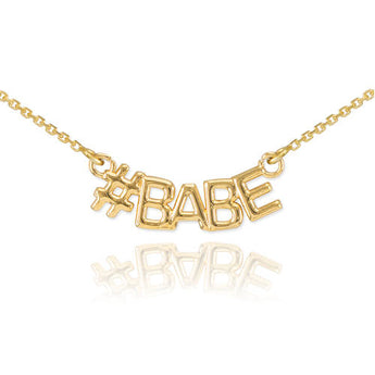14k Gold Nameplate Necklace 14k Gold Name Chain 14k Gold Name Necklace Name Charm Necklace - My Boho Jewelry