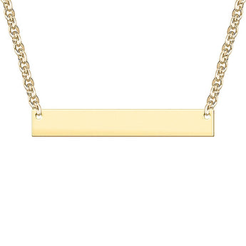 Bar Engravable Necklace in 18K Yellow Gold Plated - My Boho Jewelry